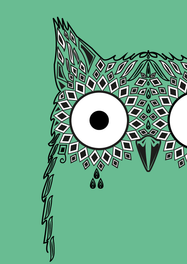 Owl Design Wallpaper