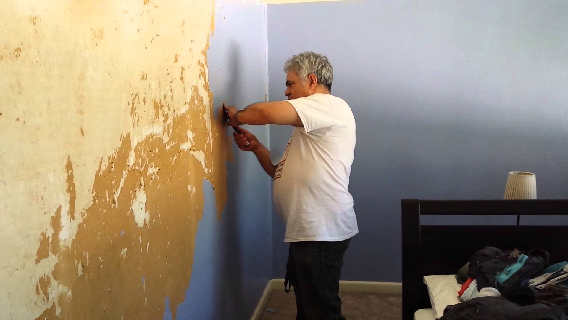 Painted Over Wallpaper Removal