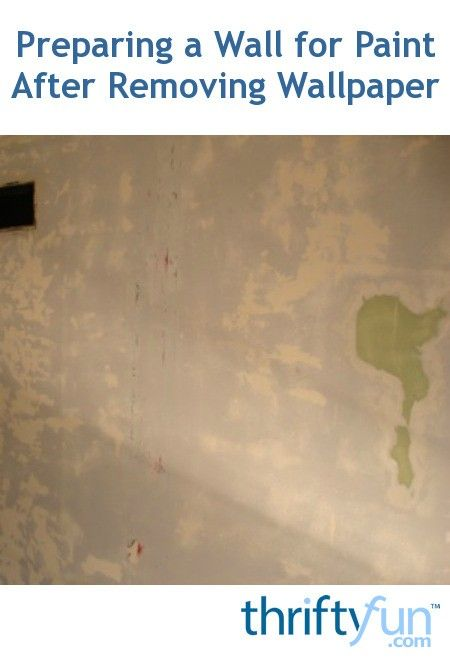 Painting After Wallpaper Removed
