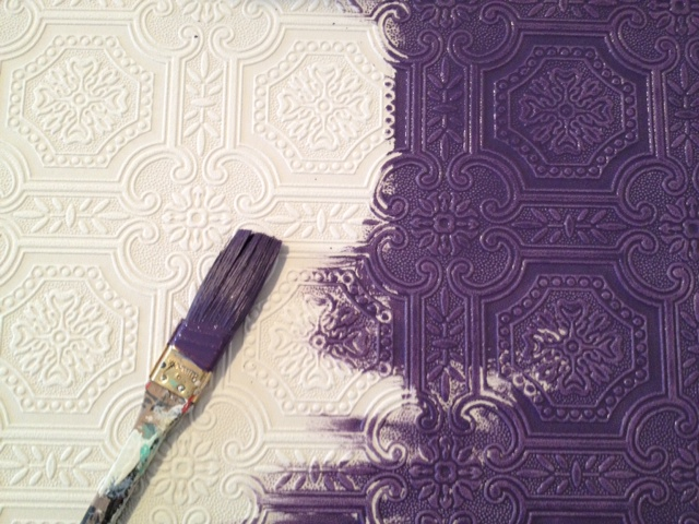 Painting On Wallpaper