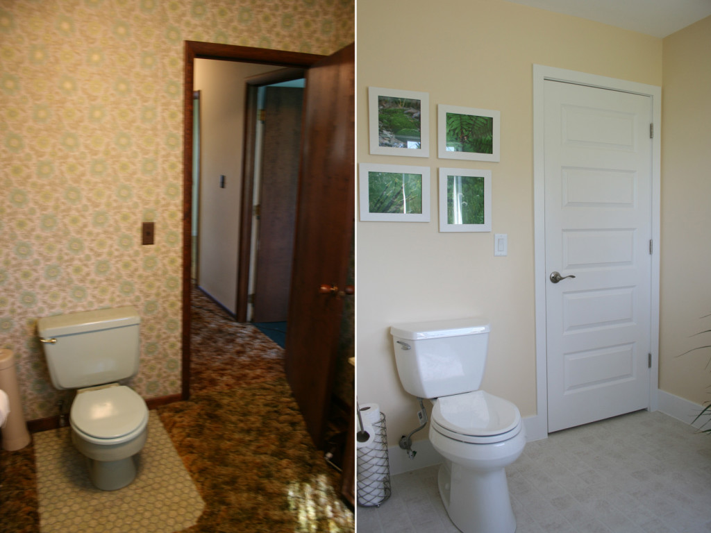 Painting Over Wallpaper Before And After