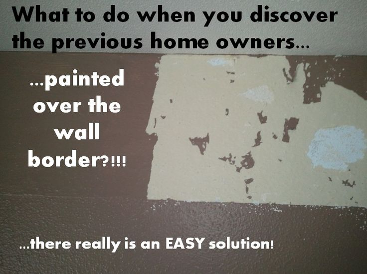 Painting Over Wallpaper Border