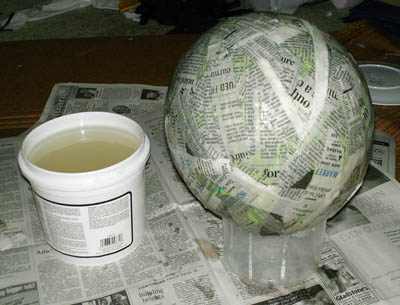 Paper Mache With Wallpaper Paste