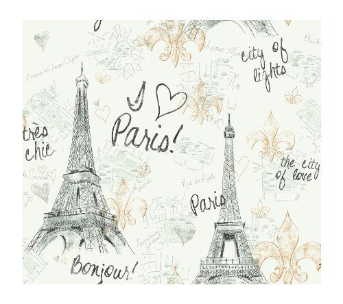 Paris Themed Wallpaper