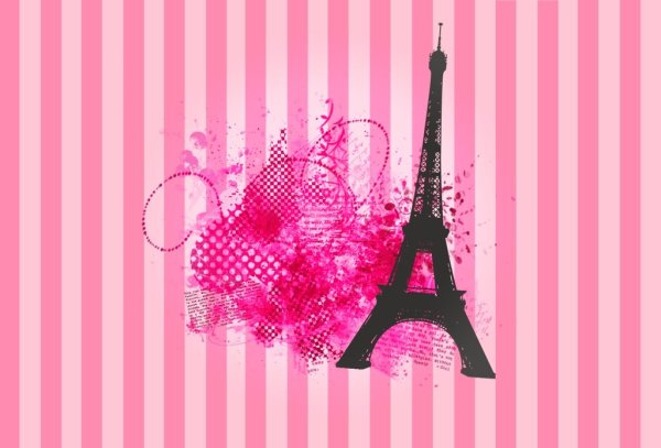 Paris Wallpaper Pink