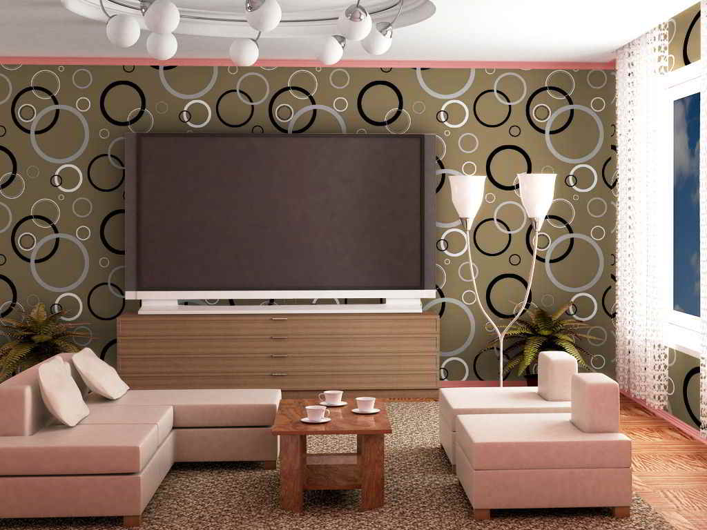 Patterned Wallpaper For Living Rooms