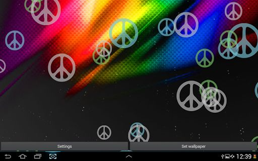 Peace Sign Live Wallpaper