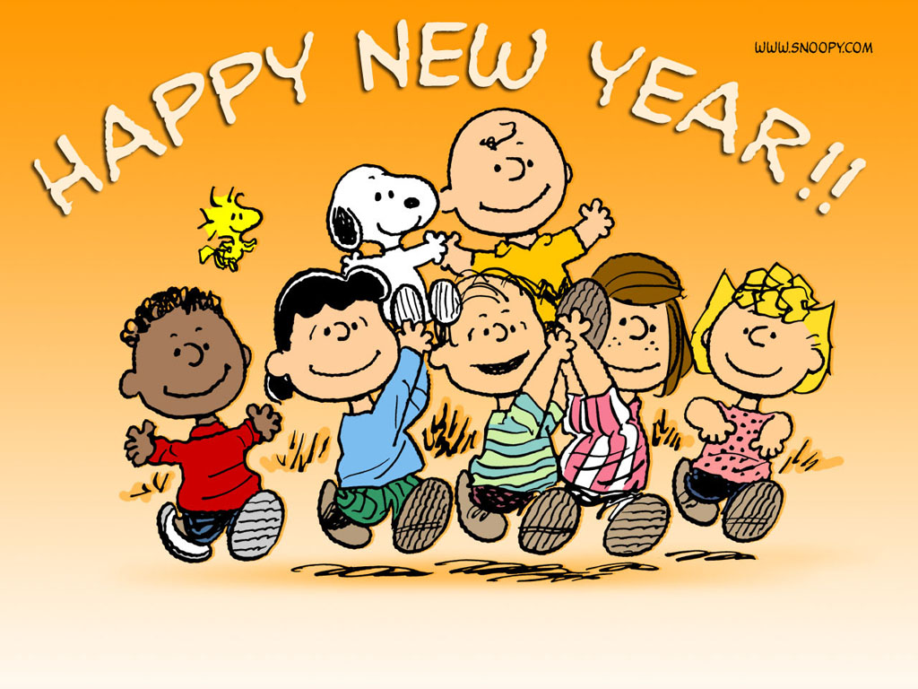 Peanuts New Years Wallpaper