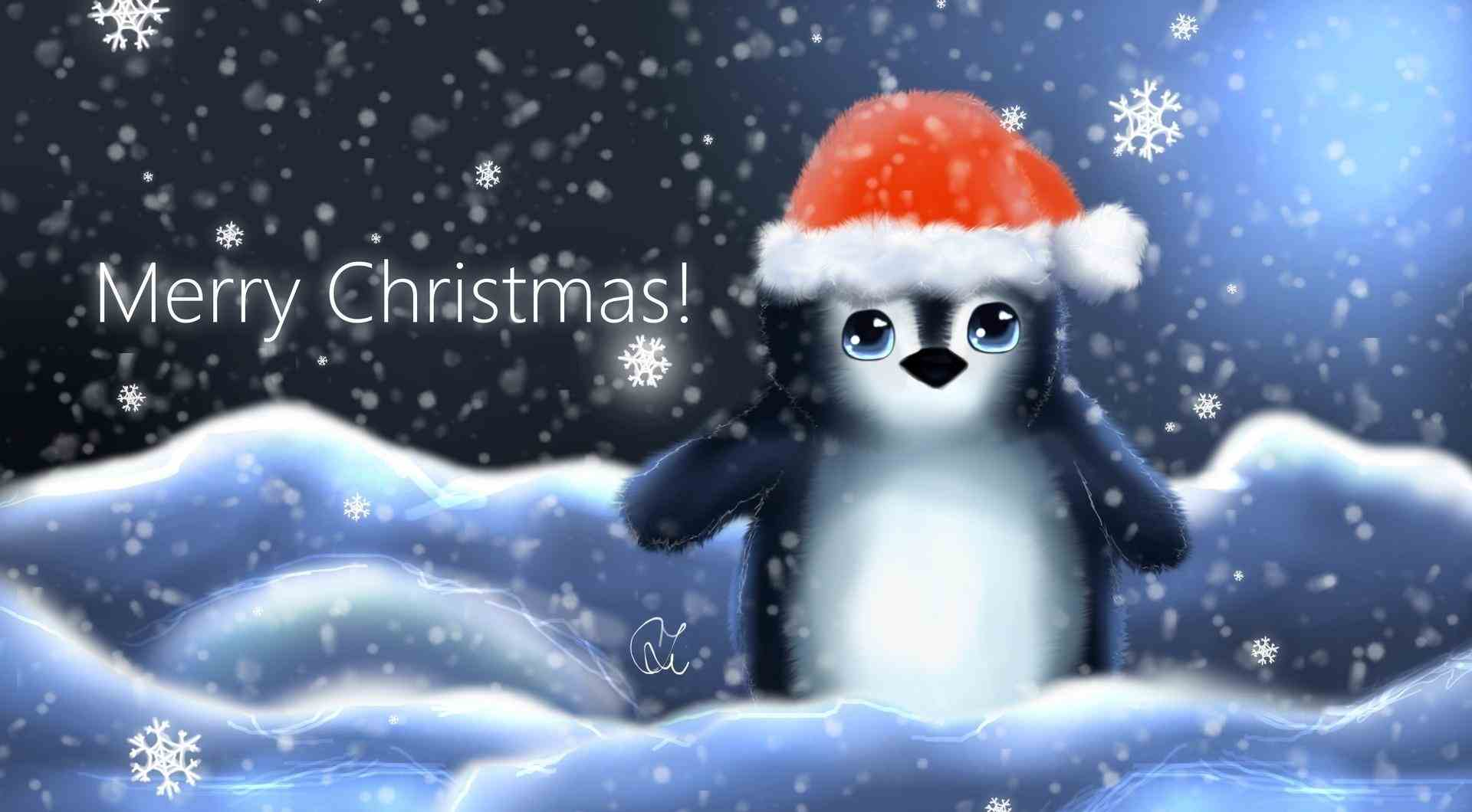 Penguin Christmas Wallpaper