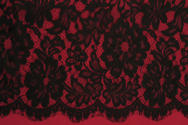 Pink And Black Lace Wallpaper