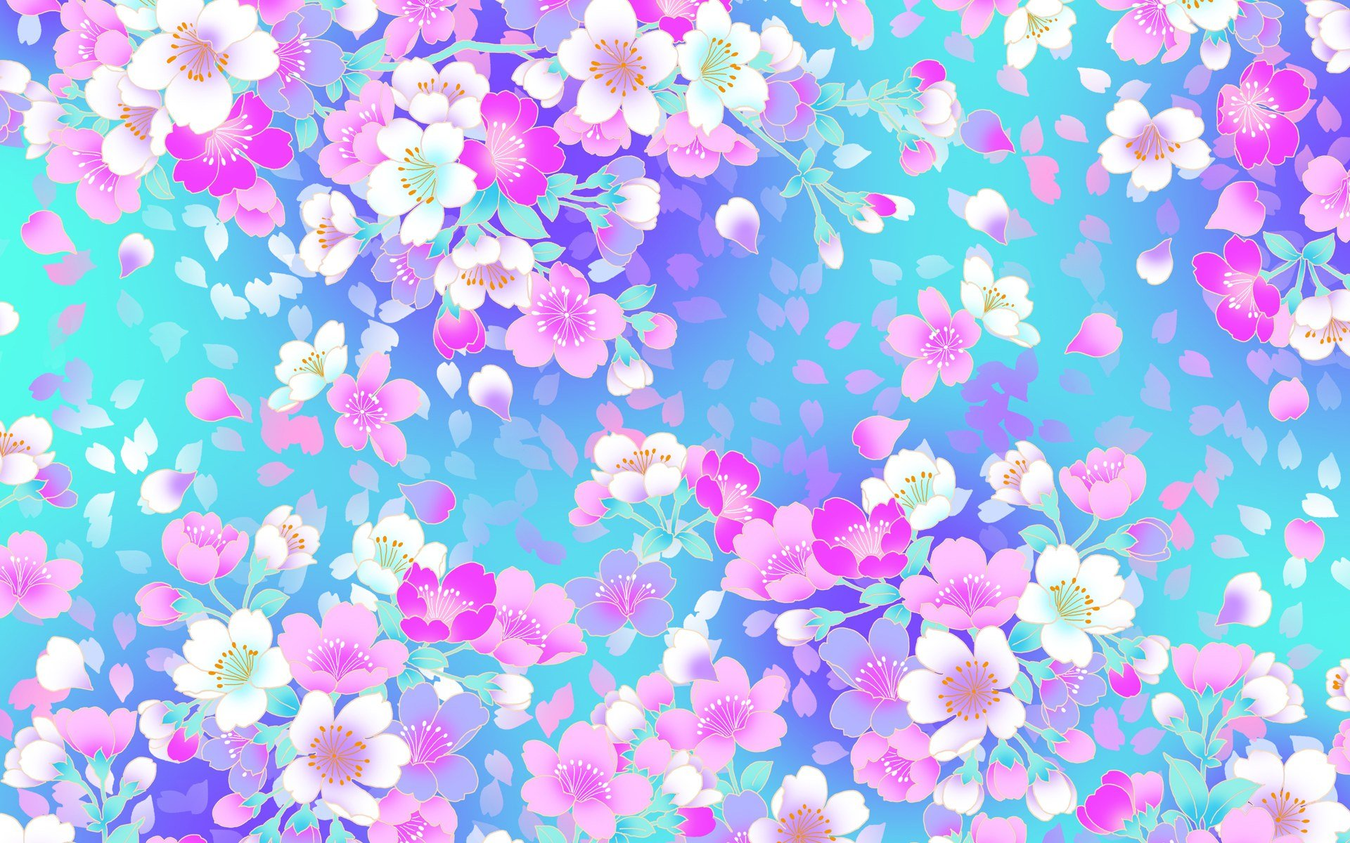 Download Pink And Blue Flower Wallpaper Gallery