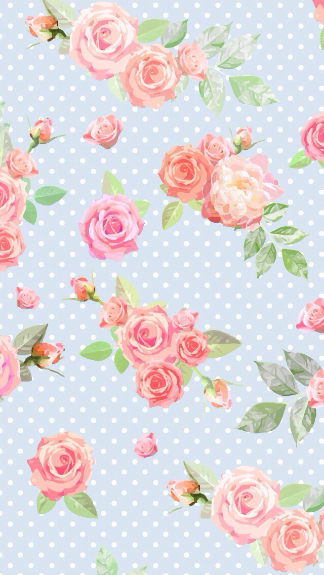 Pink And Blue Vintage Wallpaper