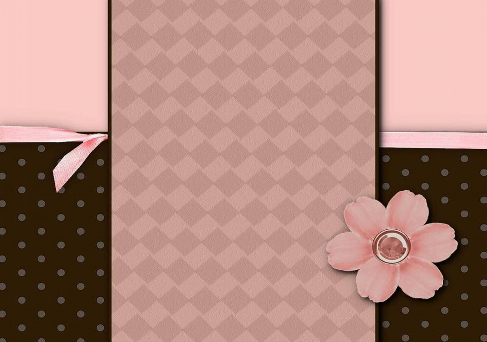 Download Pink And Brown Wallpaper Border Gallery