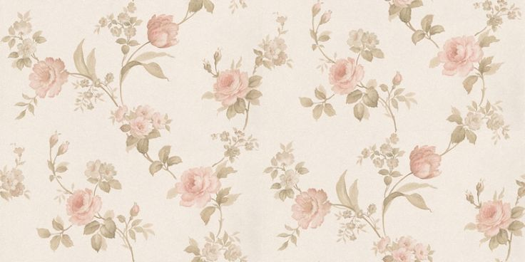 Pink And Cream Floral Wallpaper