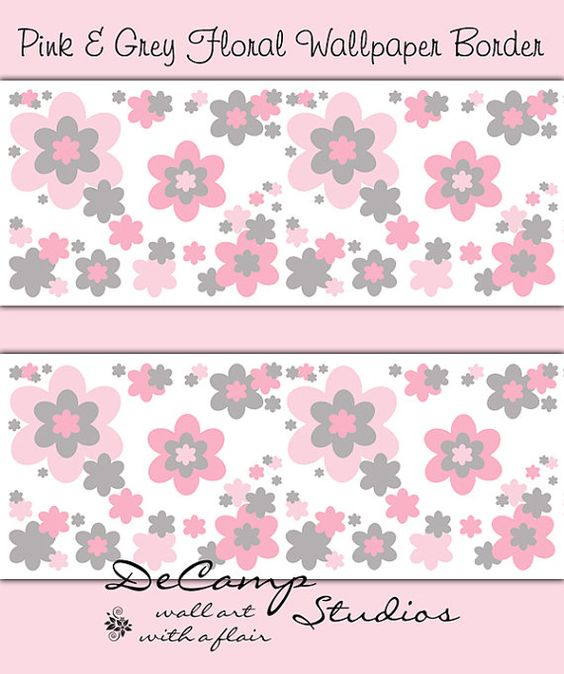Download pink and grey wallpaper borders gallery