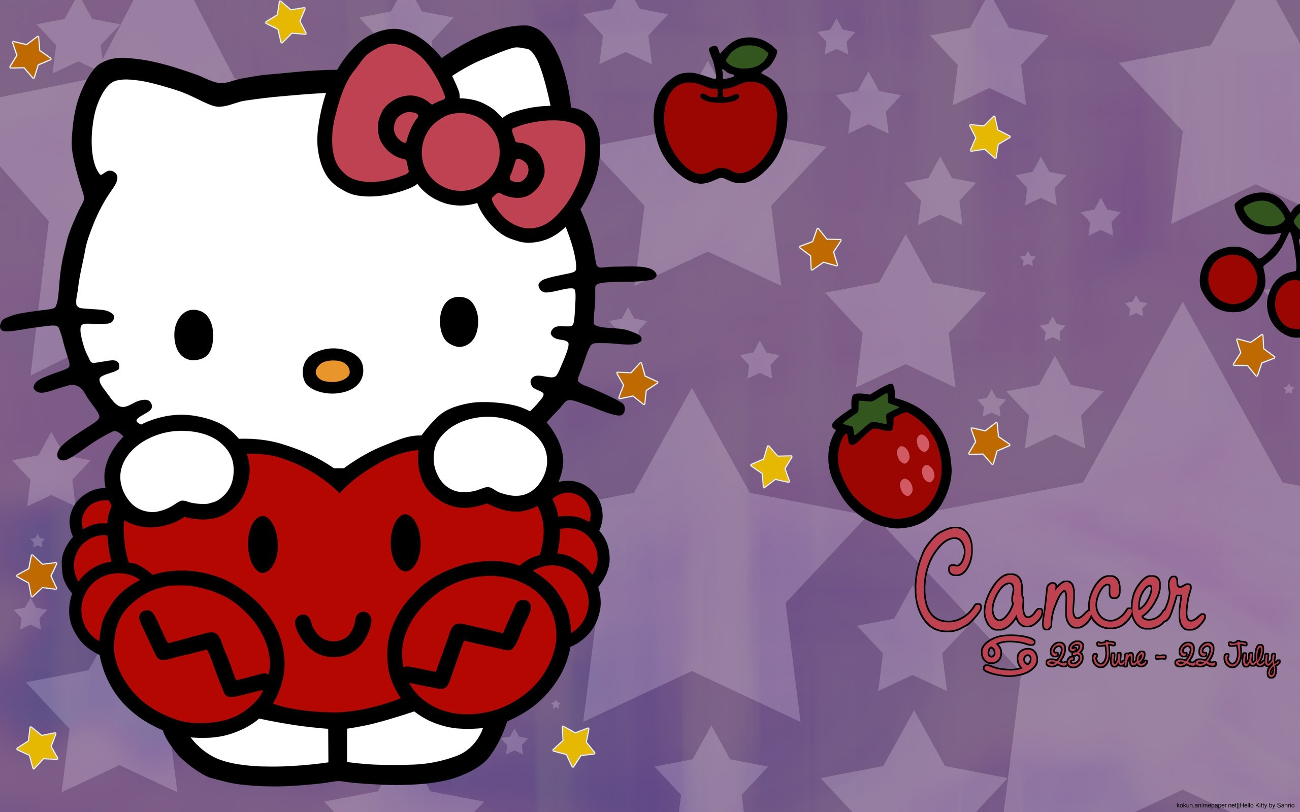 Download Pink And Purple Hello Kitty Wallpaper Gallery