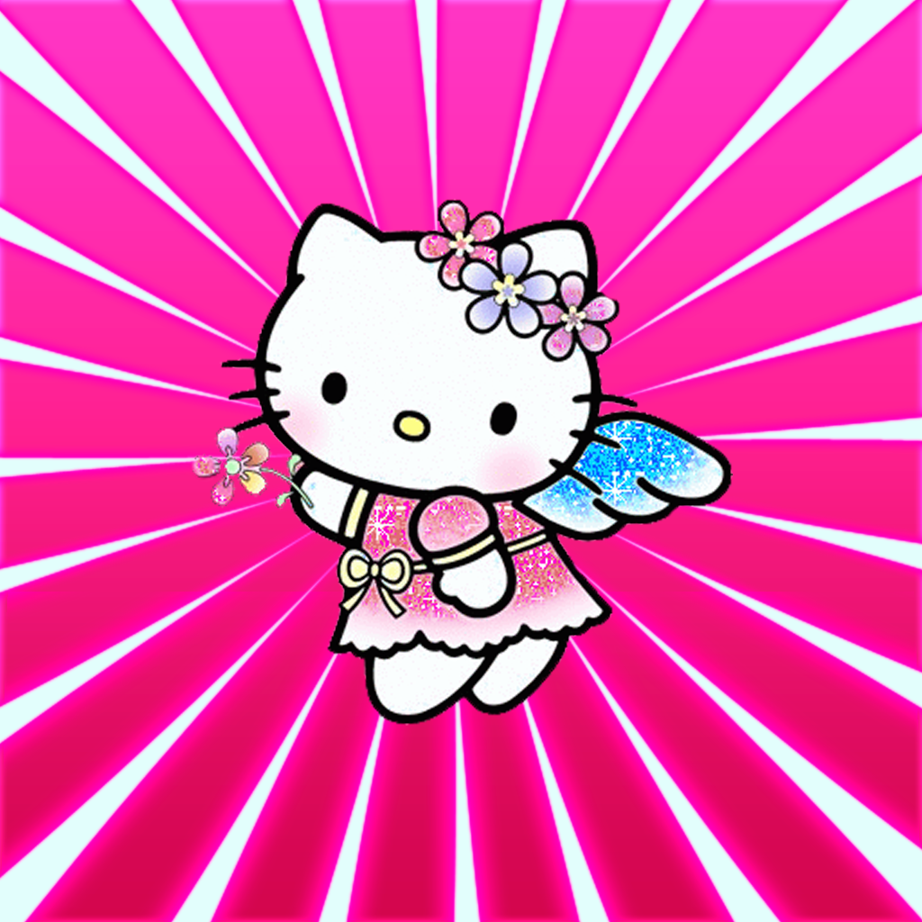 Pink And Purple Hello Kitty Wallpaper
