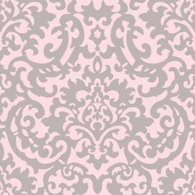 Download Pink And Silver Damask Wallpaper Gallery