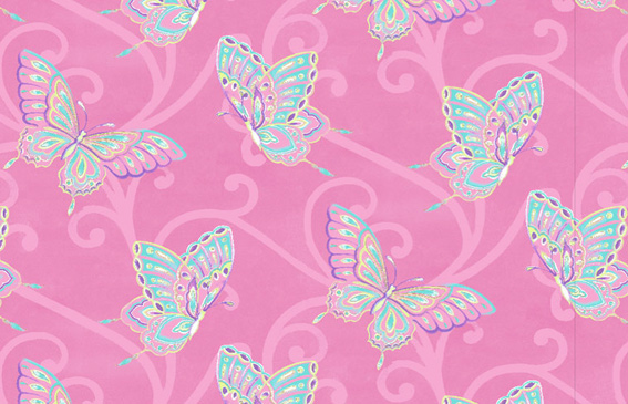 Pink And Turquoise Wallpaper