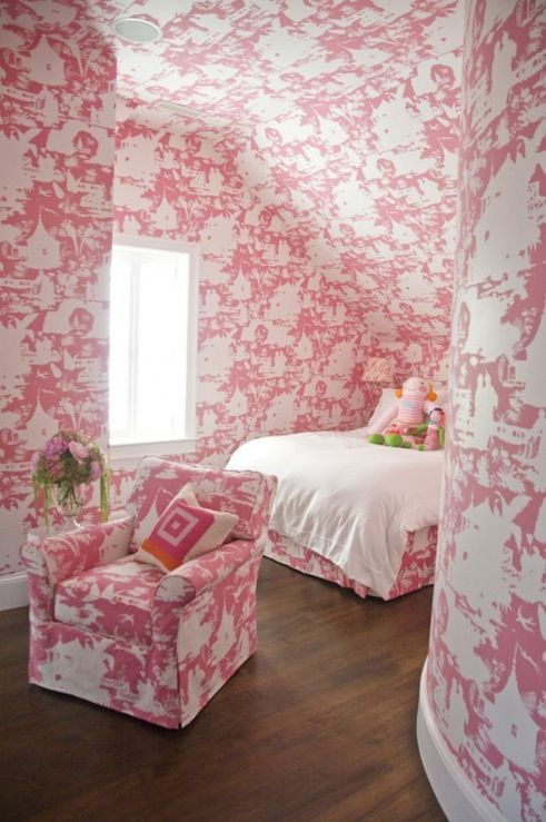 Pink And White Bedroom Wallpaper