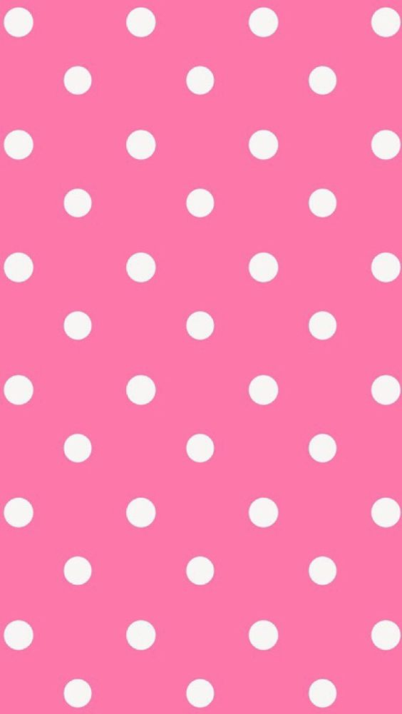 Pink And White Polka Dot Wallpaper