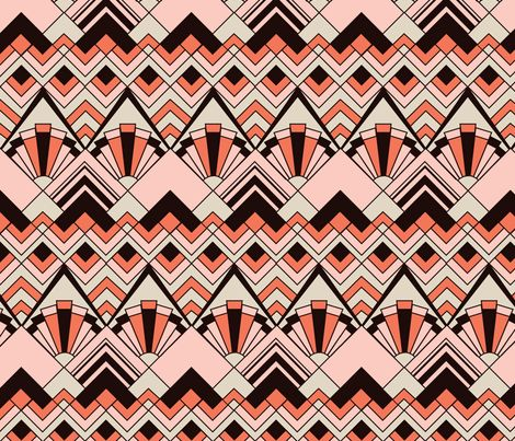 Pink Art Deco Wallpaper