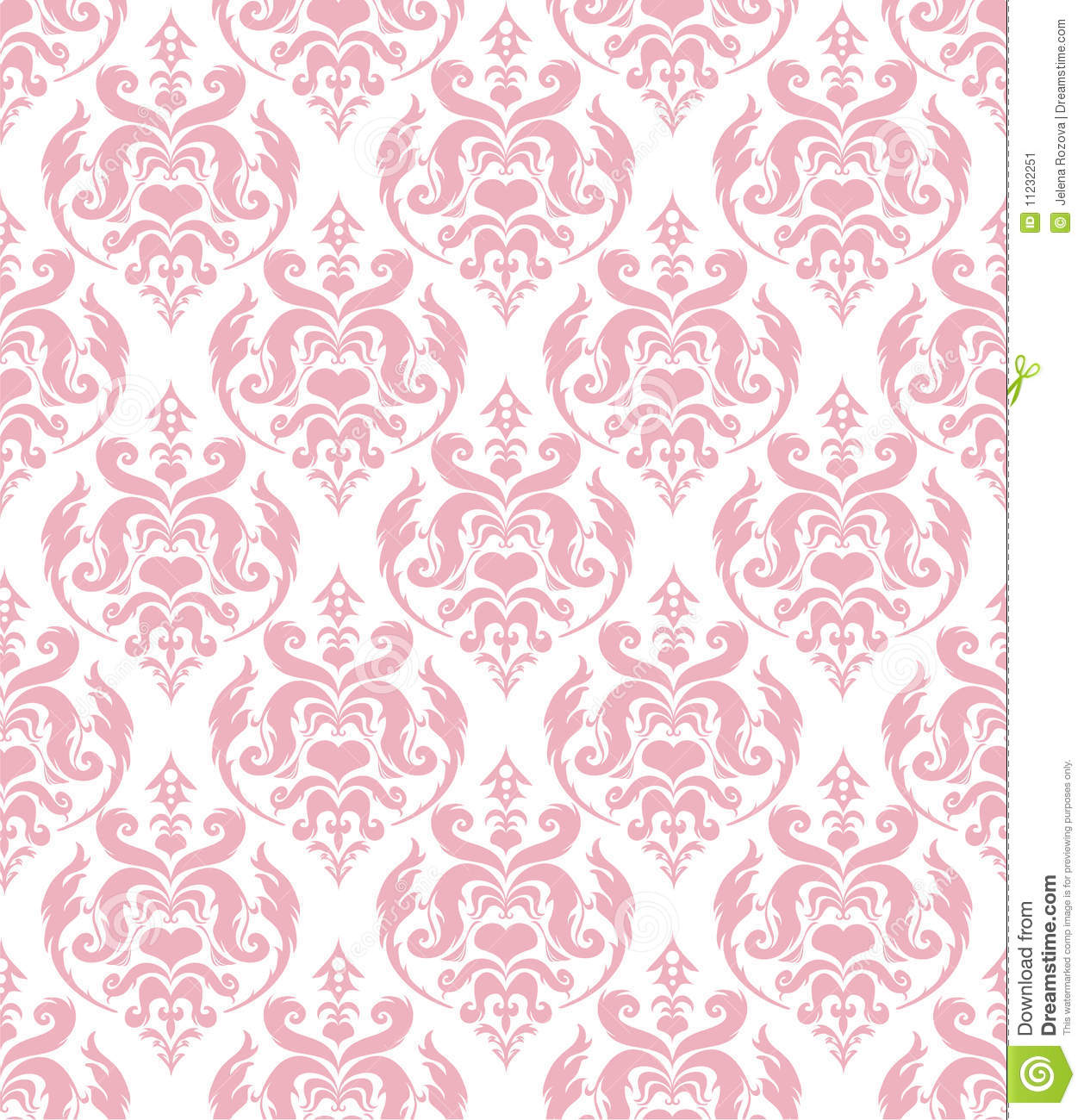 Pink Baroque Wallpaper