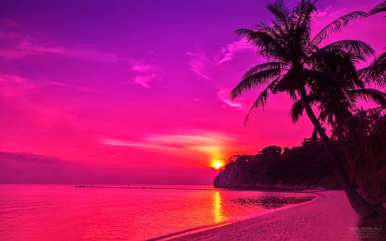 Pink Beach Wallpaper