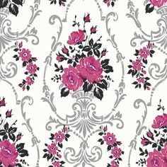Pink Black And Silver Wallpaper
