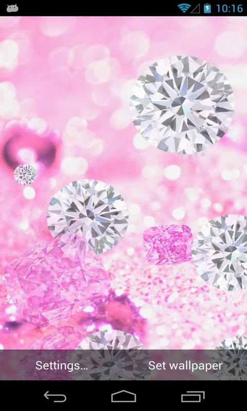 Pink Diamond Live Wallpaper