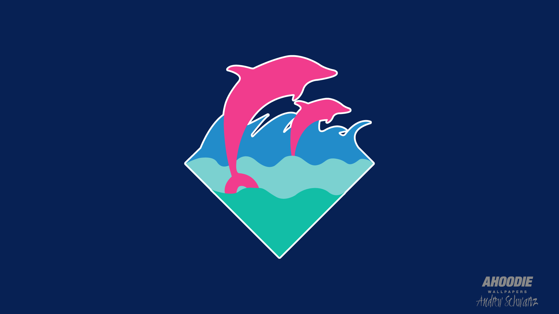 Pink Dolphin Logo Wallpaper