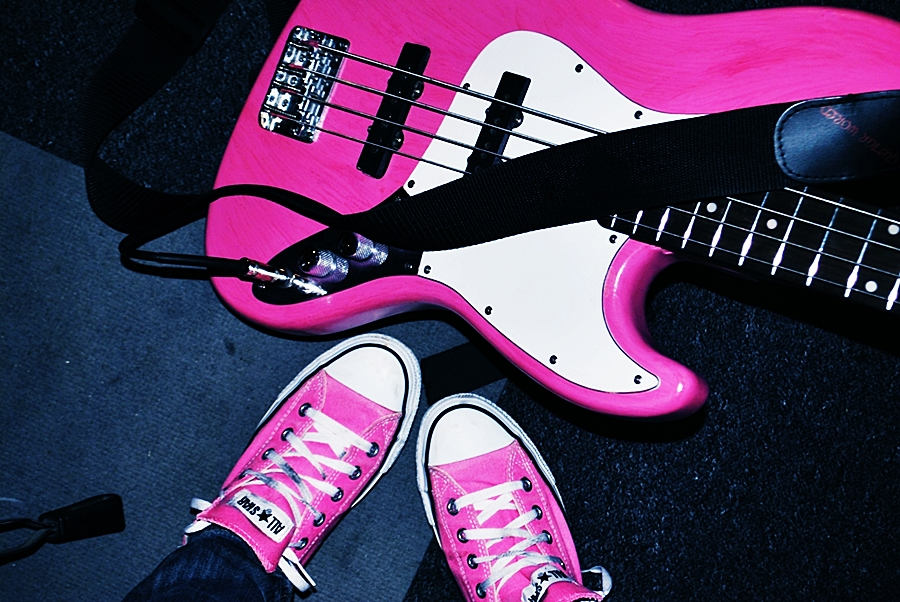Pink Guitar Wallpaper