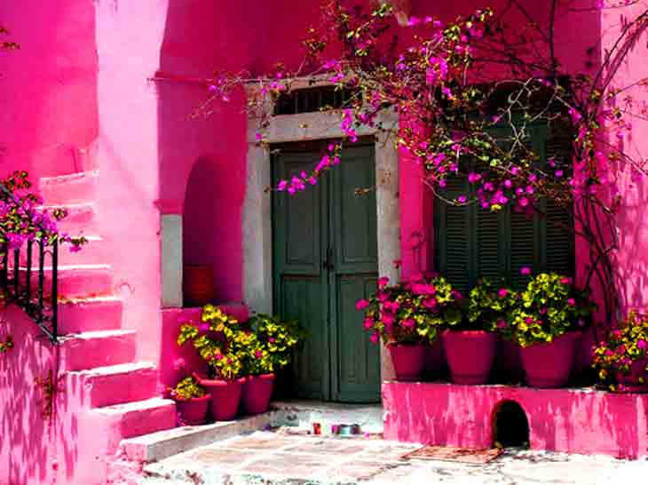 Pink House Wallpaper