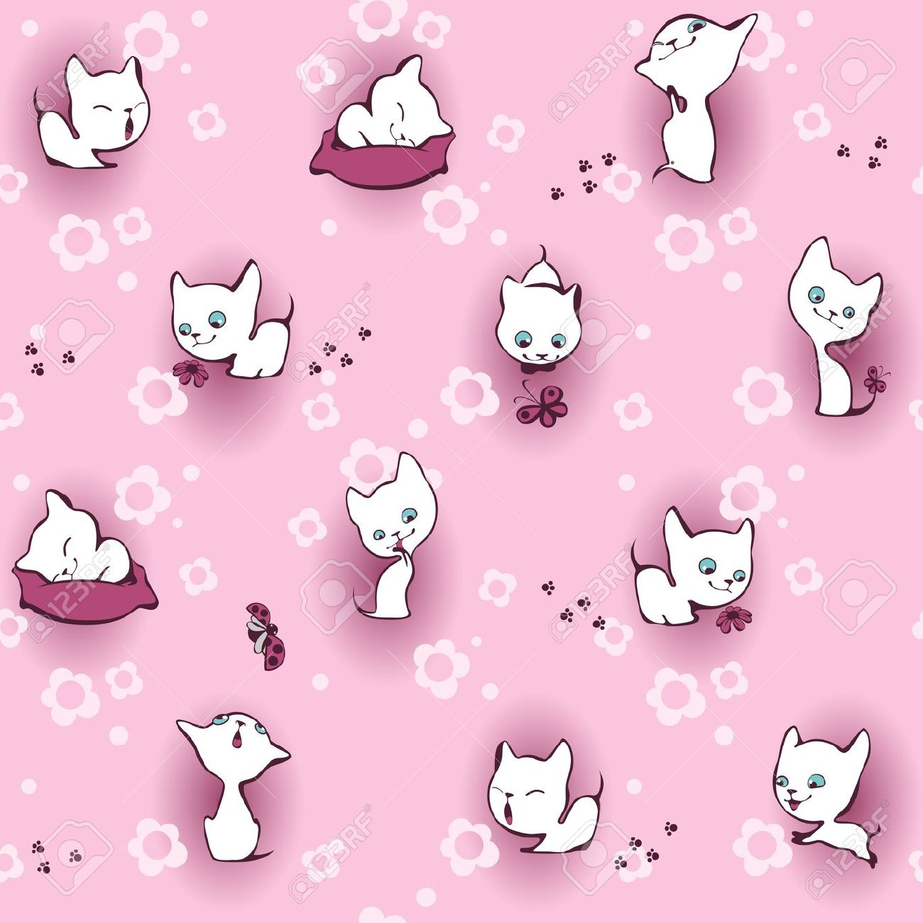 Pink Kitten Wallpaper