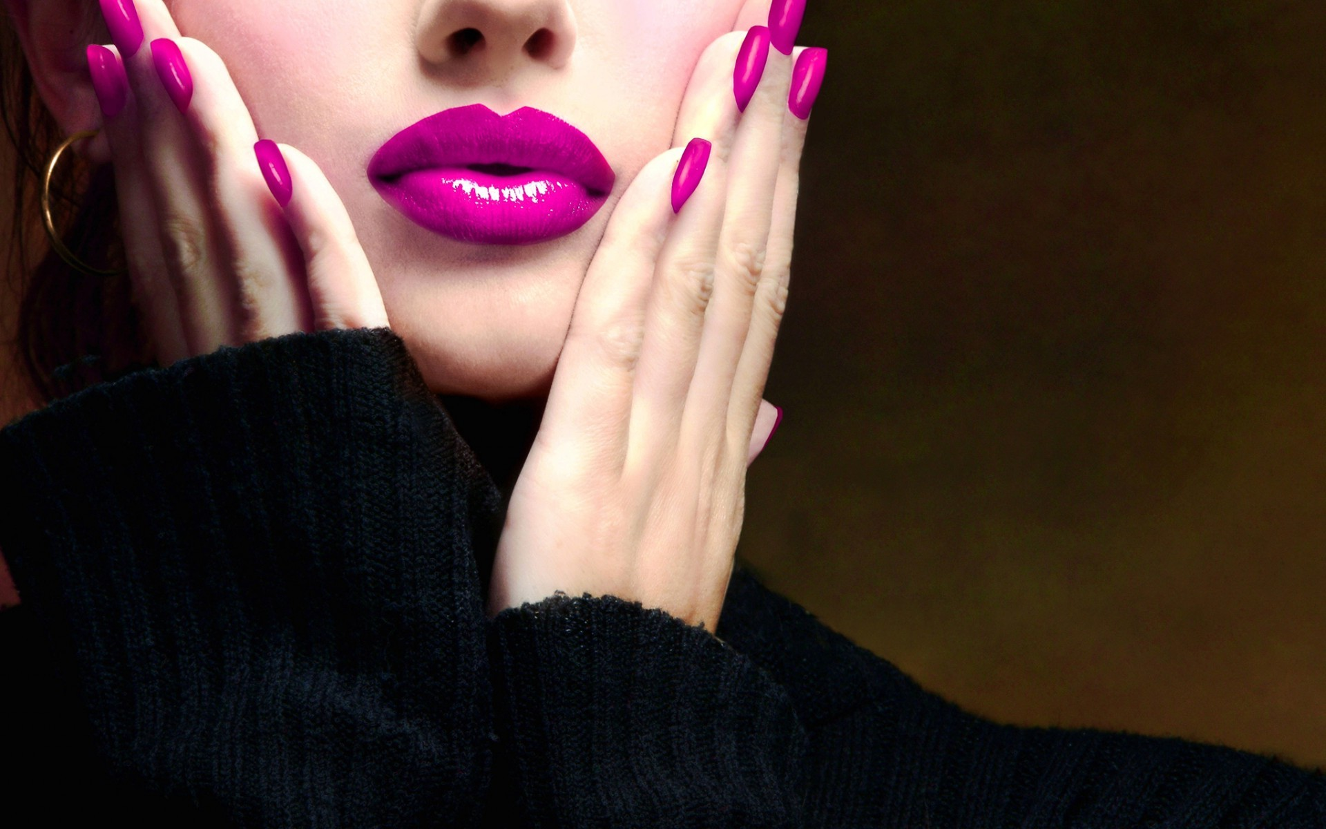 Pink Lipstick Wallpaper