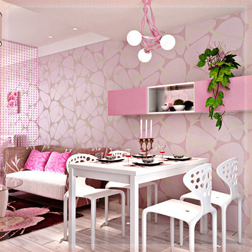 Download pink living room wallpaper gallery for Pink living room wallpaper