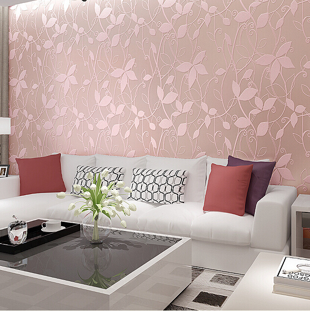 Pink Living Room Wallpaper