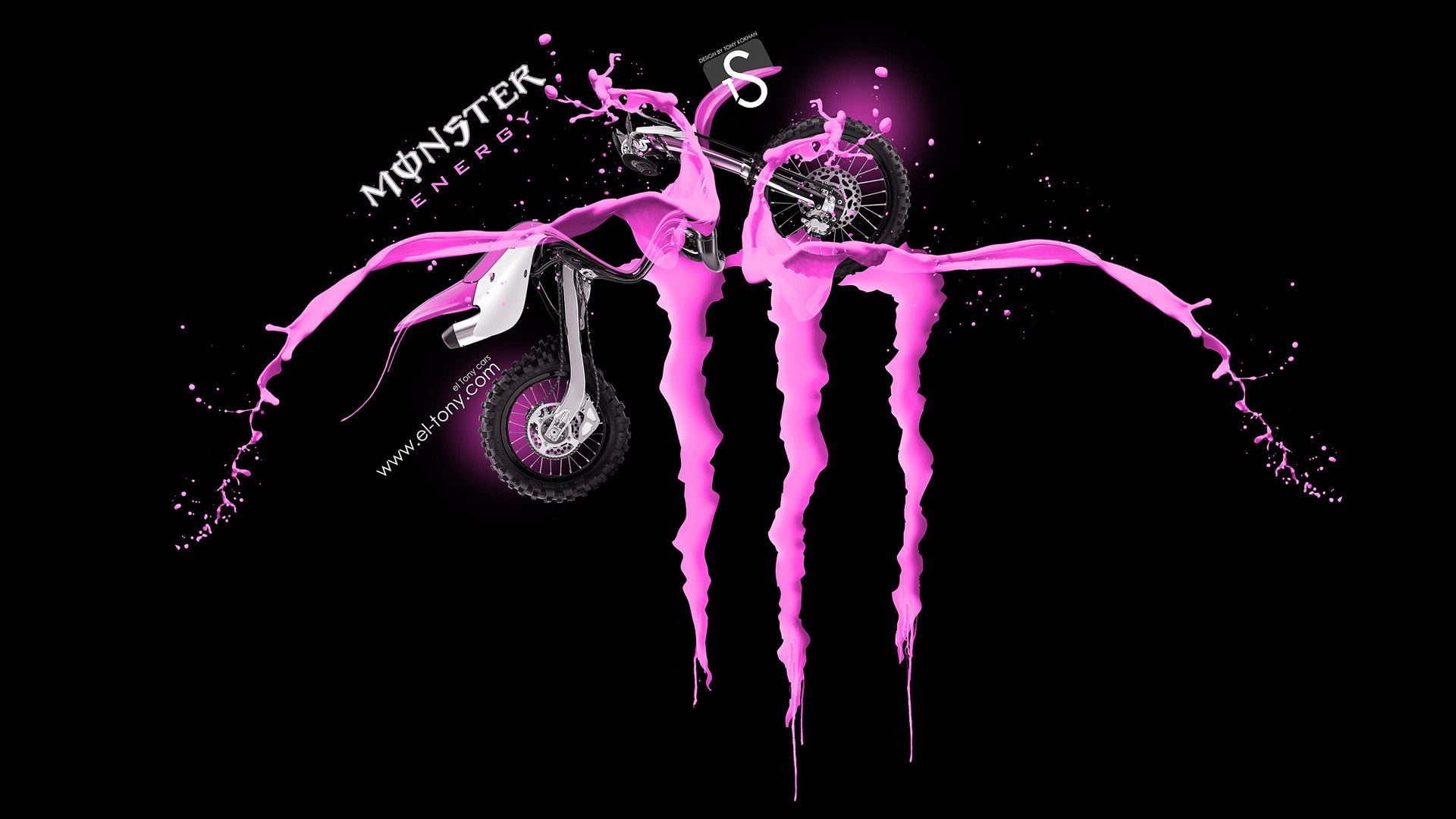 Pink Monster Energy Wallpaper