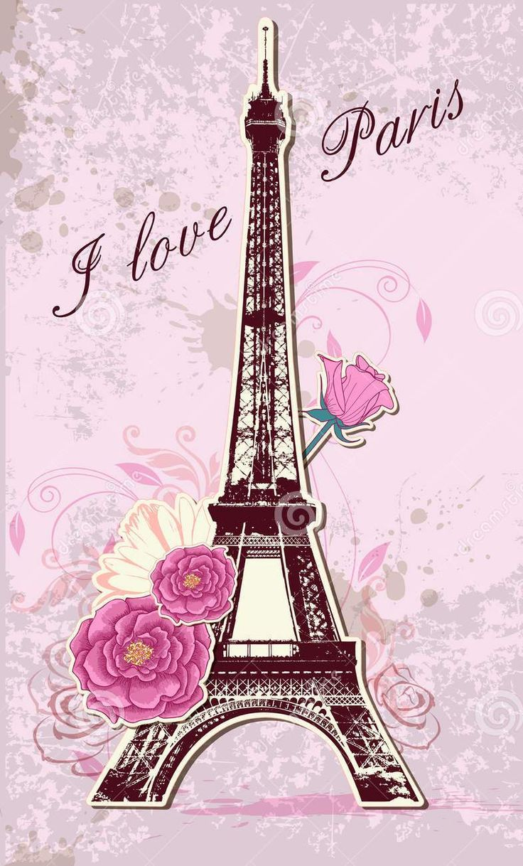 Pink Paris Wallpaper