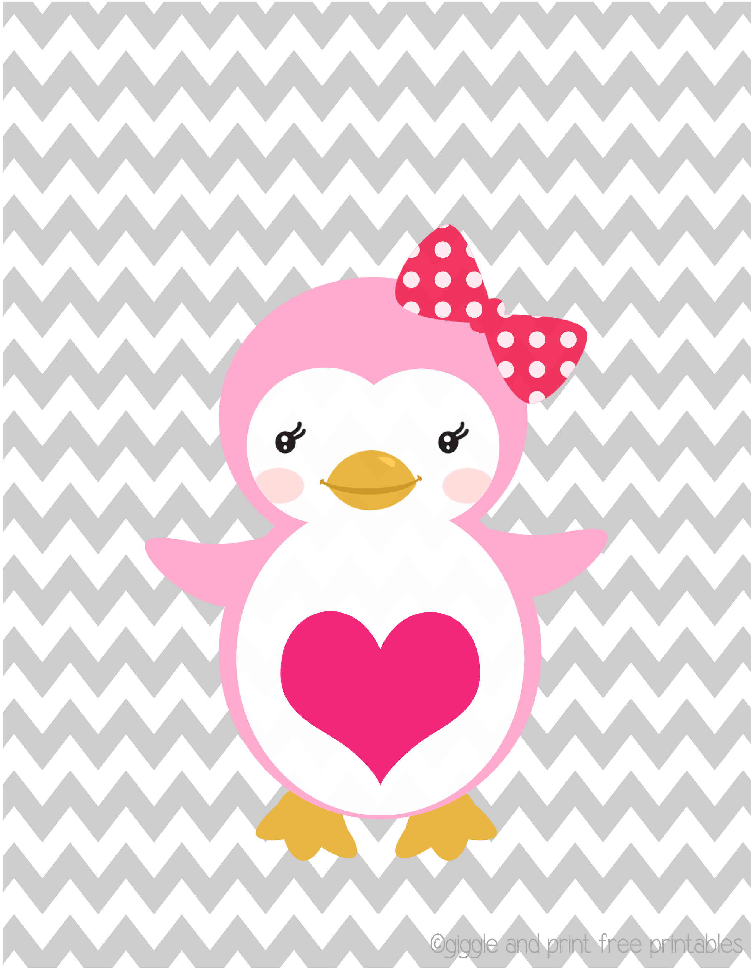 Pink Penguin Wallpaper