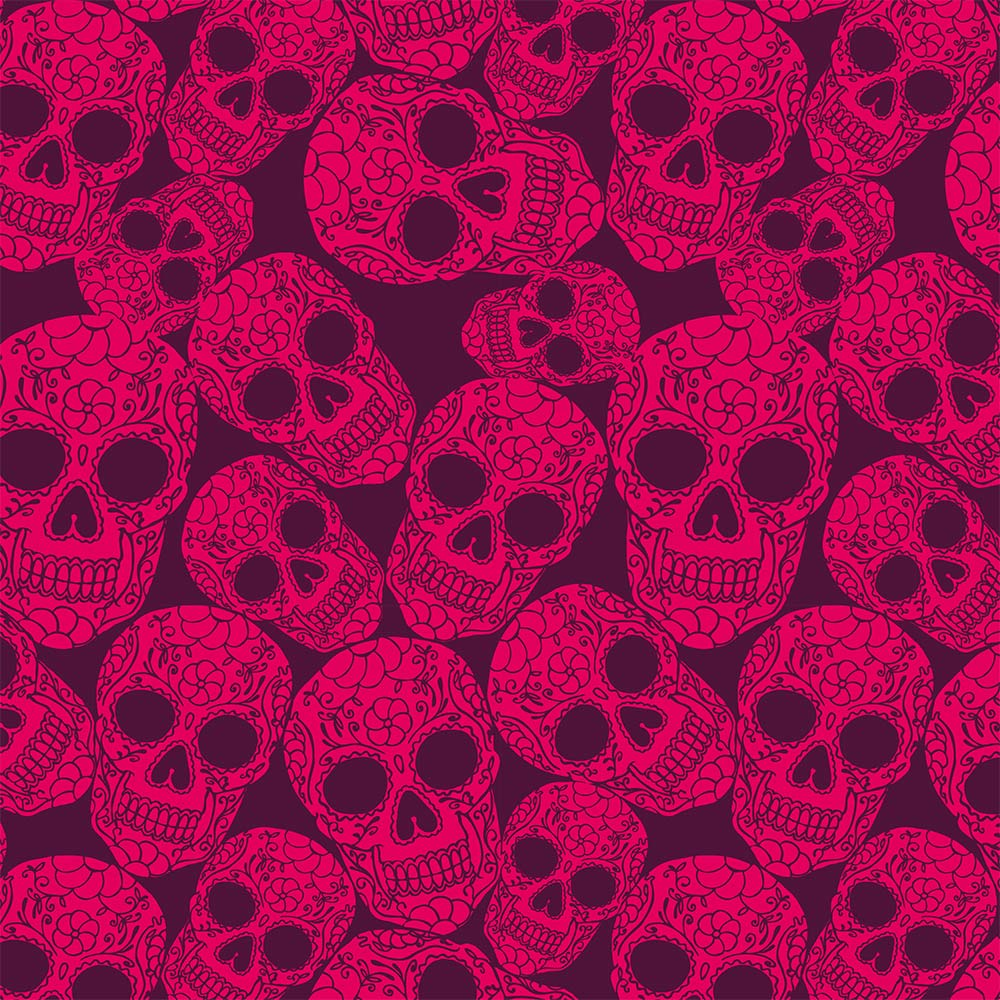 Pink skull pattern wallpaper