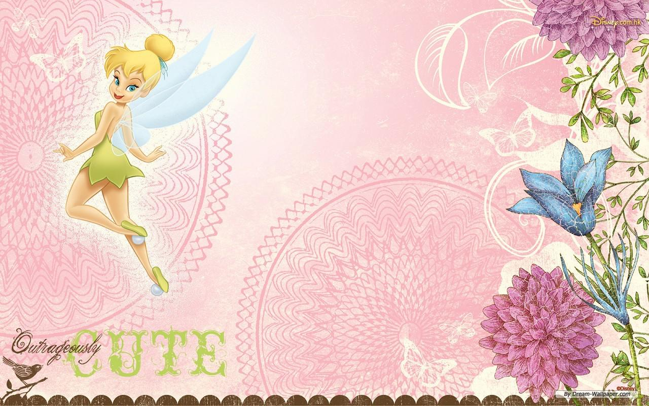 Pink Tinkerbell Wallpaper