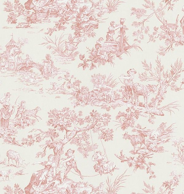 Download Pink Toile Wallpaper Gallery