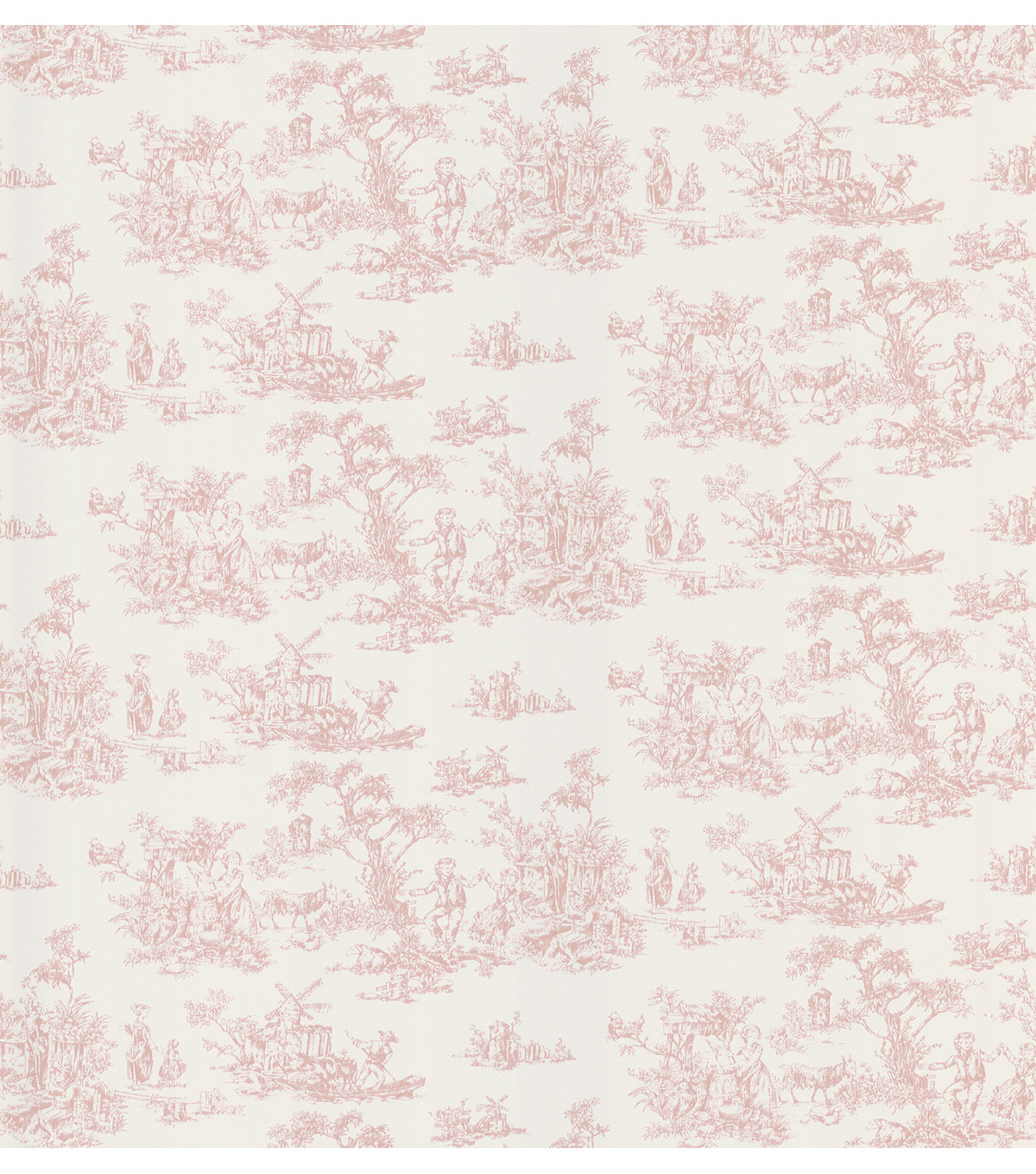 Pink Toile Wallpaper