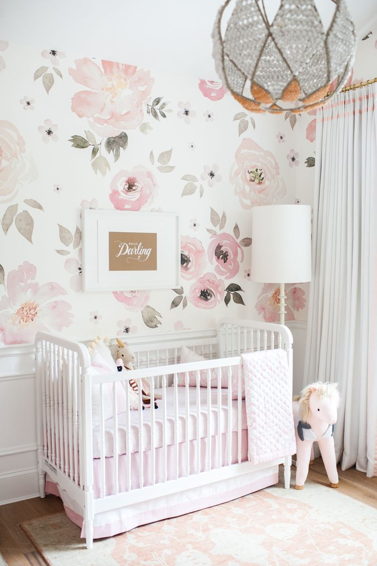 Pink Wallpaper For Nursery