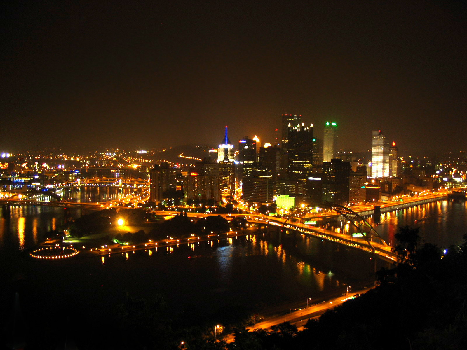 Download Pittsburgh At Night Wallpaper Gallery