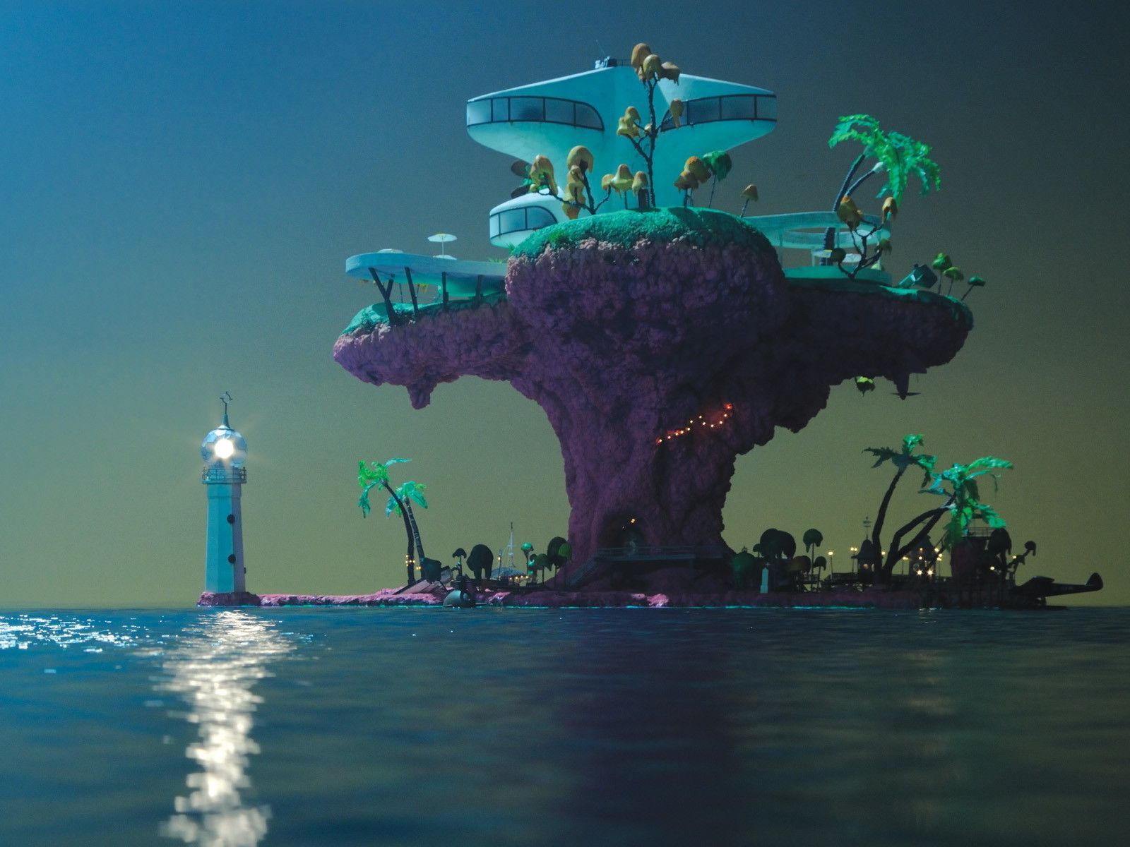 Plastic Beach Wallpaper