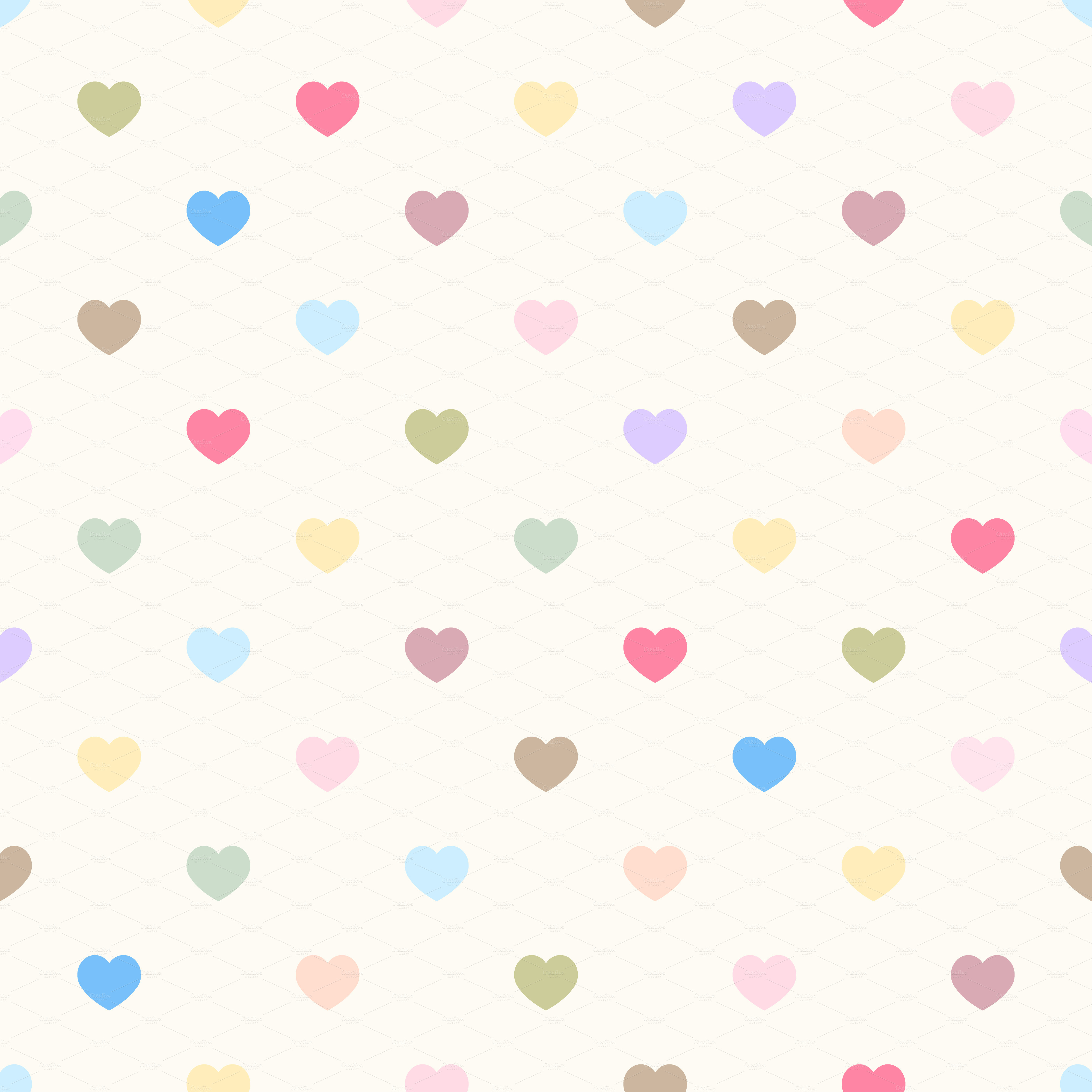 Polka Heart Wallpaper