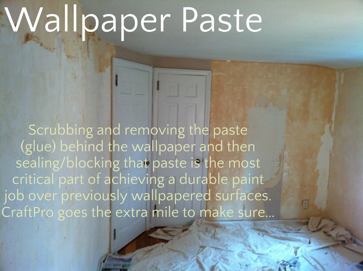 how to remove painted wallpaper glue