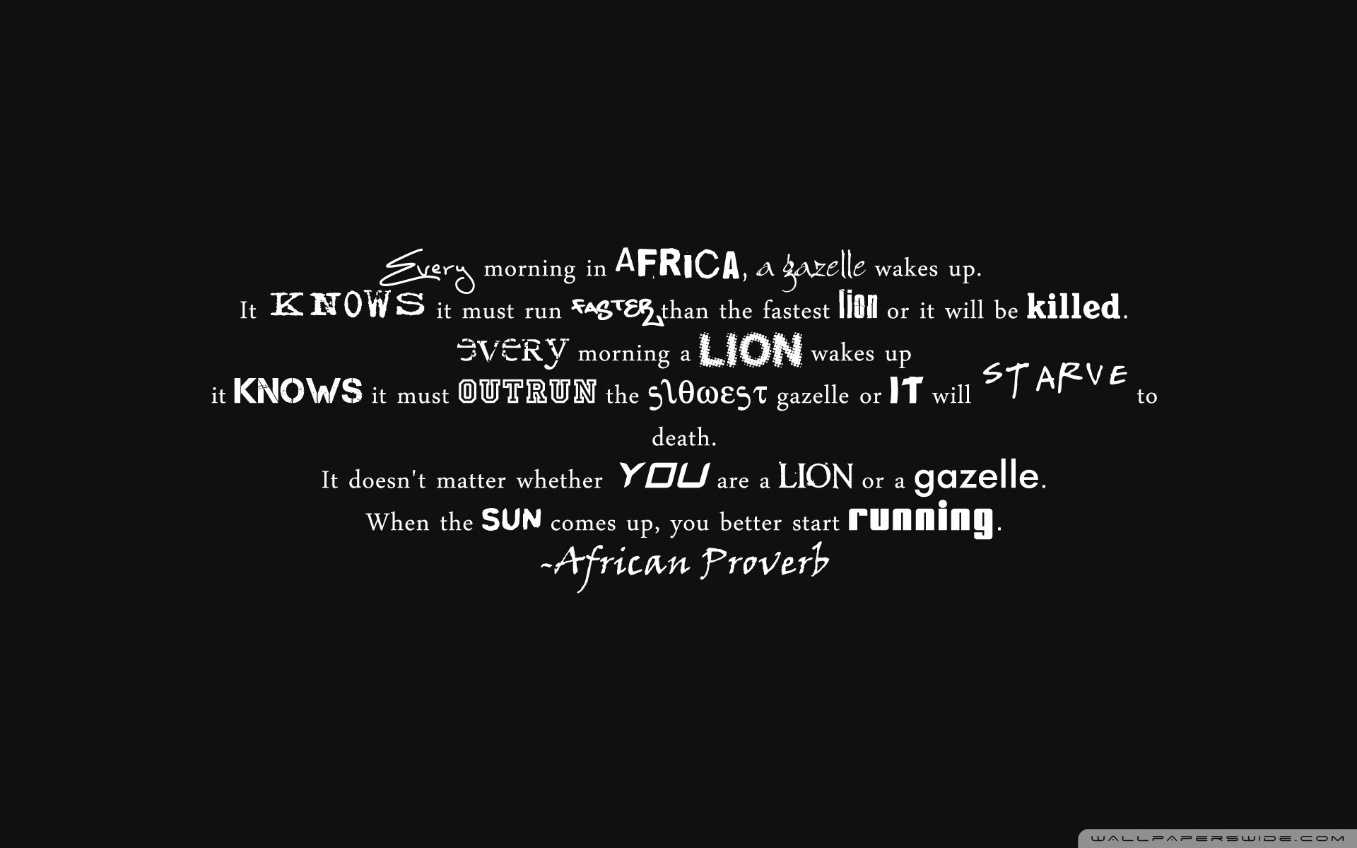 Proverb Wallpaper